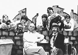Anatol und seine Freunde am Set im ORF, 1981. vlnr: Dr. Magda Brezina, Thomas Brezina, Peter Dörre (Regie), Christine Rothstein, DI Gerald Meloun, Arminio Rothstein, Dr. Andreas Brezina
