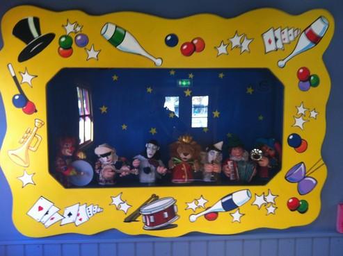 Mit unserer Zirkuskapelle am Christkindlmarkt am Rathausplatz/Adventzauber ! 7 Puppen musizieren auf Knopfdruck!