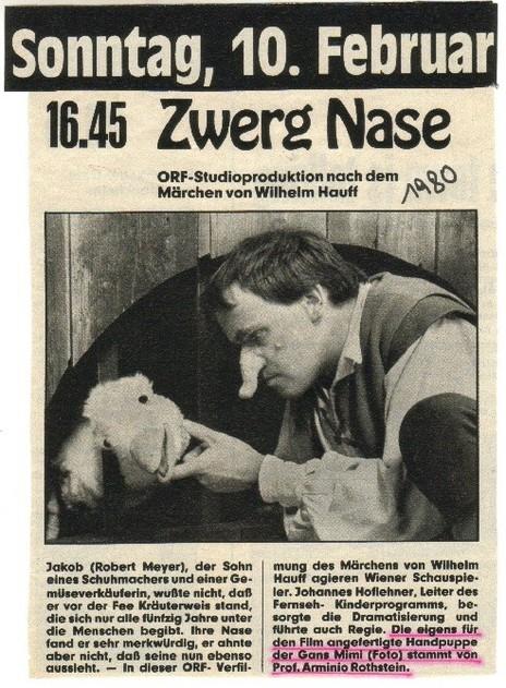 """Mimi-Debut in dem Märchen """"Zwerg Nase"""" (W.Hauff) mit Robert Meyer"""