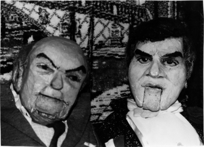 Portraitpuppen Benya und Zilk - Kabarett