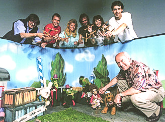 Theater Arlequin-Team am Set beim ORF