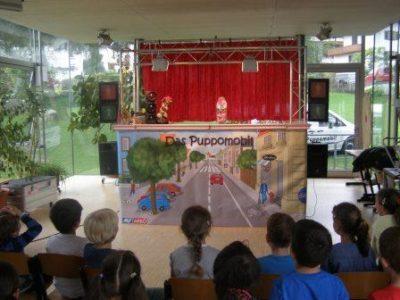 Puppomobil Bühne 2015. Foto: Mag. Christine Rothstein, Theater Arlequin Wien