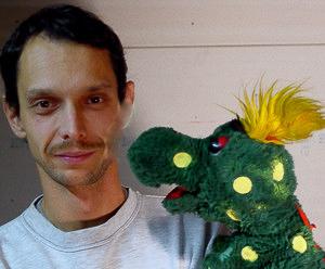 Gerald Meloun mit seinem Dracherl Buffi