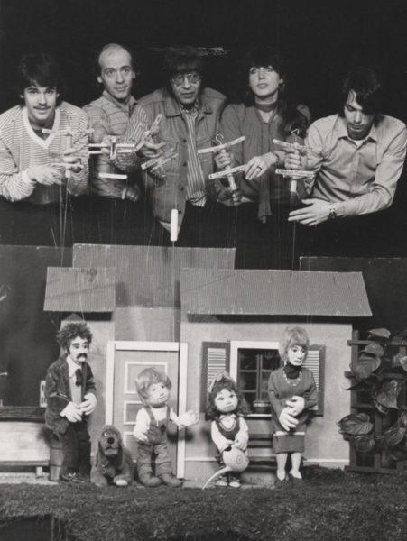Im ORF-Studio - Puppenspieler Thomas Brezina,Ferdinand Resch,Arminio Rothstein,Christine Rothstein,Gerald Meloun