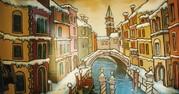 "Kulisse ""Venedig im Schnee"""