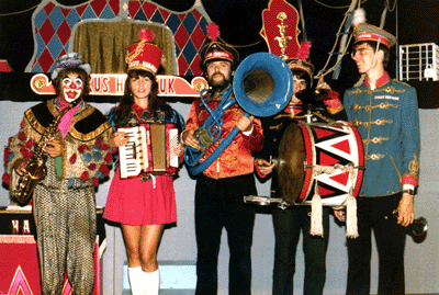 Zirkuskapelle Habakuk mit Christine, Leo, Thomas, Andreas