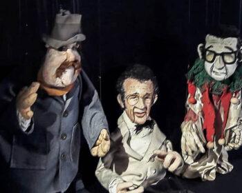 Die Portraitpuppen H. Qualtinger, G. Bronner, G. Kreisler gebaut von Arminio Rothstein.