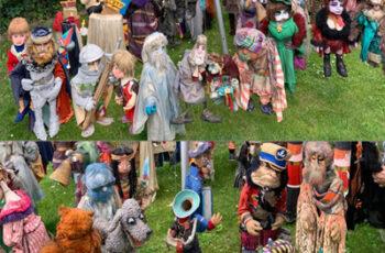 Puppen Freilichtpary des Theater Arlequin Wien