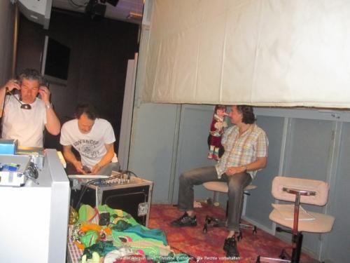 Vorbereitung auf die Vorstellung: Roman Kollmer, Gerald Meloun, Robert Swoboda