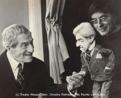 Arminio mit Karl Farkas und Farkas-Puppe