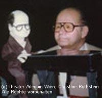Norbert Pawlicki mit seinem Puppenebenbild
