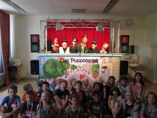 Puppomobil Vorstellung in der VS Mistelbach im Juni 2017