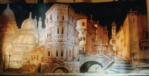 Bühnenbild Venedighintergrund